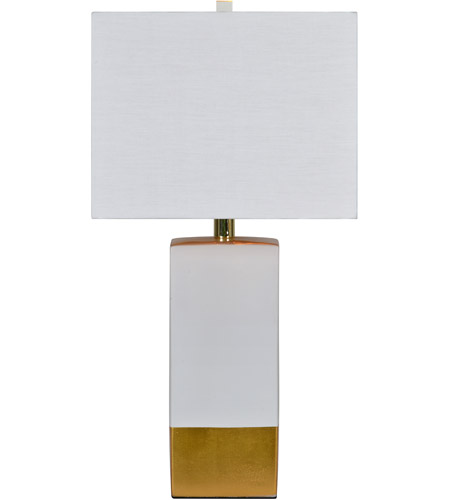 Renwil Lpt630 Le Smoking 25 Inch 100 Watt White And Gold Table
