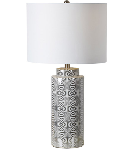 Renwil Lpt716 Camden 25 Inch 100 Watt Silver And White Table Lamp Portable Light