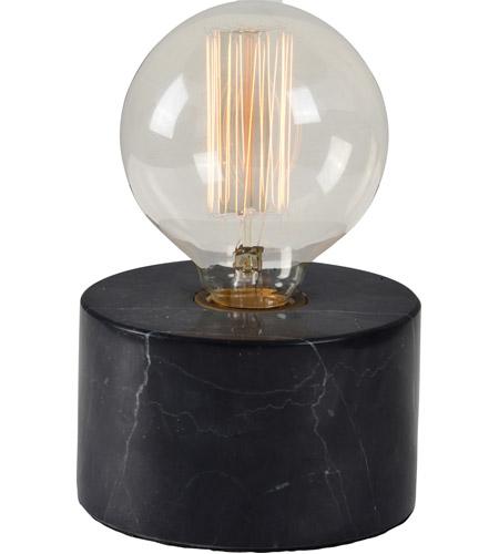 Renwil Lpt882 Sefton 7 Inch 40 Watt Black Marble Table Lamp Portable Light Small