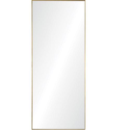 renwil mt2056 crosland 72 x 30 inch gold leaf floor mirror large rectangle lighting new york