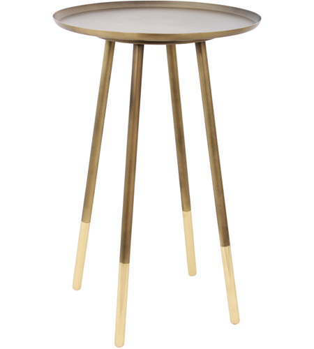 Renwil Ta112 Pawn 23 X 15 Inch Antique Brass Side Table