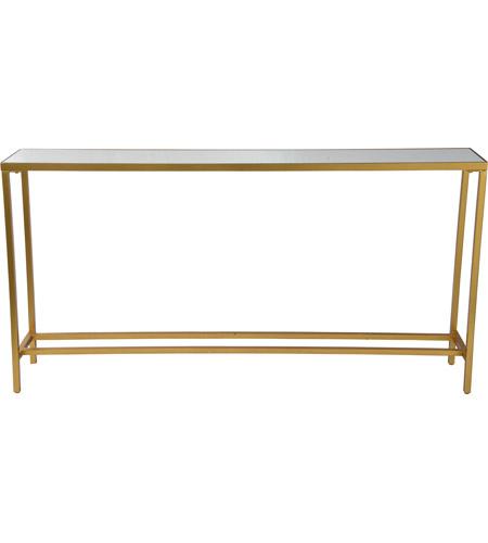 Renwil TA252 Havana 60 inch Gold Leaf Console Table, Medium
