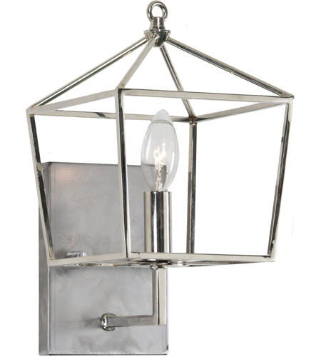 Renwil Ws016 Hawthorn 1 Light 8 Inch Polished Nickel Wall Sconce Small