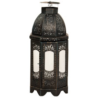 Carriage II Black Candle Holder