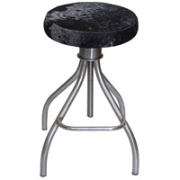 Renwil CHA003 Fairbanks Cowhide and Nickel Plated Stool Home Decor