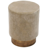 Renwil CHA015 Berkley III Sesame and Antique Brass Stool Home Decor