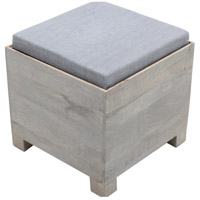 Renwil CHA017 Bishop II Natural with Grey Linen Stool Home Decor