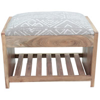 Milas Dark Taupe and Natural Bench, Medium