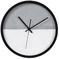 Tenniel Grey and Matte White with Matte Black Clock