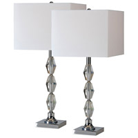 Renwil JONL8505 Moira 13 inch 100 watt Satin Nickel Table Lamp Portable Light, Set of 2