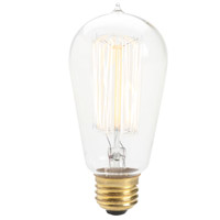 Edison Type A E26 60 watt Light Bulb, Vintage, 3 Pack