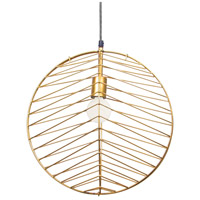 Ragtime 1 Light 21 inch Gold Powder Coated Pendant Ceiling Light