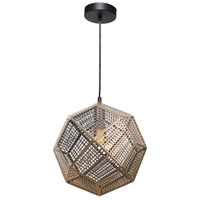 Skars 1 Light 12 inch Polished and Lacquered Pendant Ceiling Light