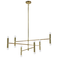 Axis 12 Light 41 inch Gold Plated Pendant Ceiling Light