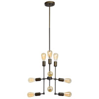Belton 9 Light 24 inch Matte Black Pendant Ceiling Light
