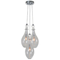 Thenia 3 Light 13 inch Satin Nickel Plated Pendant Ceiling Light