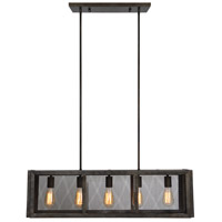 Adra 5 Light 36 inch Graphite Linear Pendant Ceiling Light