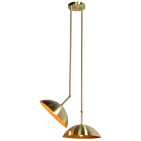 Renwil LPC4106 Weald 2 Light 20 inch Gold Pendant Ceiling Light thumb
