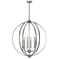 Renwil LPC4140 Sullivan 6 Light 30 inch Polished Nickel Pendant Ceiling Light