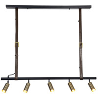 Renwil LPC4187 Desmond LED 46 inch Matte Black and Satin Gold Linear Pendant Ceiling Light, Small