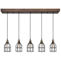 Renwil LPC4228 Roseneath 5 Light 47 inch Natural Linear Pendant Ceiling Light, Small