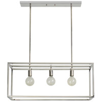 Renwil LPC4246 Majolica 3 Light 34 inch Polished Nickel Linear Chandelier Ceiling Light Small