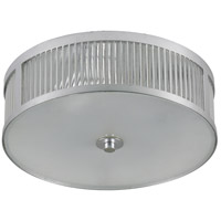 Renwil LPC4251 Togo 3 Light 15 inch Silver Leaf Flush Mount Ceiling Light Small