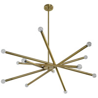 Cady 12 Light 43 inch Antique Brass Chandelier Ceiling Light, Small