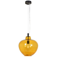 Renwil LPC4259 Opera 1 Light 15 inch Oil Rubbed Bronze and Amber Glass Pendant Ceiling Light, Small alternative photo thumbnail