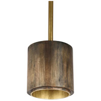 Renwil LPC4268 Margiela 3 Light 22 inch Antique Brass with Gold Inside and Grey Outside Pendant Ceiling Light Large