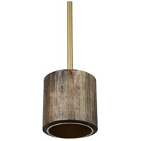 Renwil LPC4269 Duxbury 1 Light 9 inch Antique Brass with Gold Inside and Grey Outside Pendant Ceiling Light Small