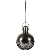 Renwil LPC4271 Burgio 3 Light 24 inch Grey and Antique Brass Pendant Ceiling Light Large