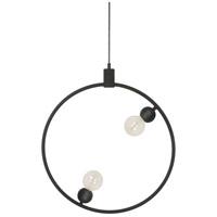 Renwil LPC4276 Dylan 1 Light 24 inch Black Pendant Ceiling Light Small