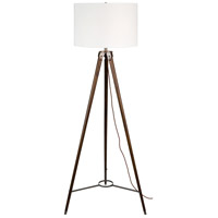 Rosedale 64 inch 60 watt Brown and Black Floor Lamp Portable Light
