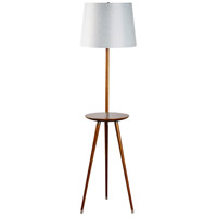 Somerset 64 inch 100 watt Walnut Floor Lamp Portable Light