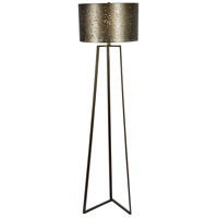 Rise 61 inch 100 watt Graphite Bronze Floor Lamp Portable Light