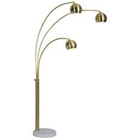 Renwil LPF3072 Dorset 83 inch 40 watt Satin Brass Floor Lamp Portable Light Large