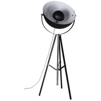 Garcia 60 inch 60 watt Black and Chrome Floor Lamp Portable Light, Medium