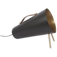 Renwil LPF3092 Medusa 12 inch 25 watt Mattee Black and Antique Brass Floor Lamp Portable Light Small