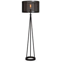 Livingstone 19 inch 100 watt Black Floor Lamp Portable Light