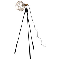 Elington 64 inch 40 watt Brass and Black Floor Lamp Portable Light