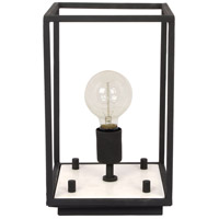 Renwil LPT1017 Shandy 14 inch 40 watt Black and White Marble Table Lamp Portable Light Small