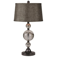 Kalika 15 inch 100 watt Bronze Table Lamp Portable Light