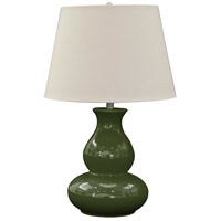 Green Orchard 27 inch 100 watt Jade Green Table Lamp Portable Light