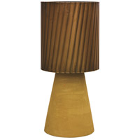 Tervo 24 inch 40 watt Mustard Waxed and Polished Brass Table Lamp Portable Light