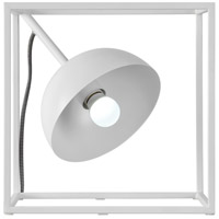 Tribute Square 12 inch 60 watt White Table Lamp Portable Light
