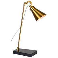 Ebon Way 21 inch 40 watt Antique Gold and Black Table Lamp Portable Light