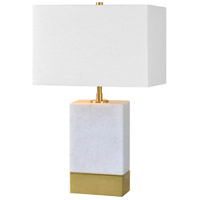 Lucent 20 inch 40 watt Antique Gold and White Table Lamp Portable Light