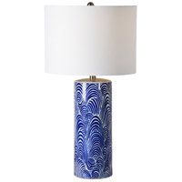 Stafford 26 inch 100 watt Blue and White Table Lamp Portable Light