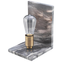 Multress 9 inch 60 watt Greyish Marble Table Lamp Portable Light